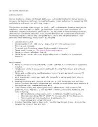 Free Resume Templates Computernician Objectives For Help Desk
