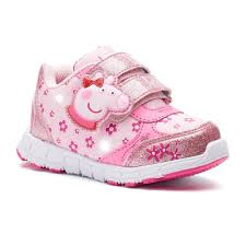 Baby Girl Shoes With Lights Peppa Pig Glitter Toddler Girls Light Up Shoes Light Up