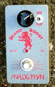 analog man beano boost treble booster effects pedal analog man beano boost pedal