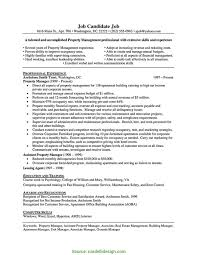 Sample Resume For Property Management Job Lovely Unusual Property