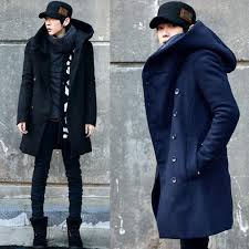 new winter korean special mens hooded pea coat slim fit long section men s wool coat from jst2016 54 56 dhgate com