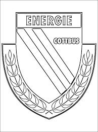 Kleurplaat Met Energie Cottbus Embleem Gratis Kleurplaten