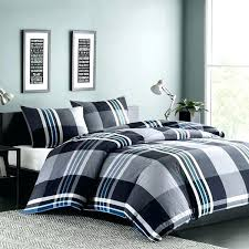 gray plaid comforter grey bedding black blue light twin set thick tartan cuddl duds cozy soft