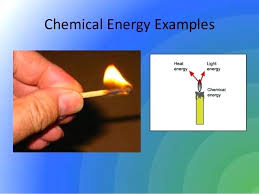 Chemical Potential Energy Examples Chemical Energy Examples Chemical
