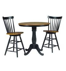 36 inch classic round table black cherry with 6 pedestal extension
