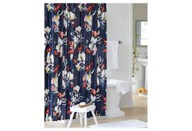 remarkable dazzling charming blue target threshold curtains with fl motif and white pedestal bath sink
