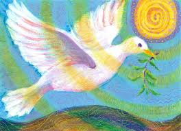 dove of peace acrylic painting by heni sandoval