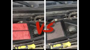 Air Filter Comparison Chart K N Air Filter Vs Stock Paper Filter