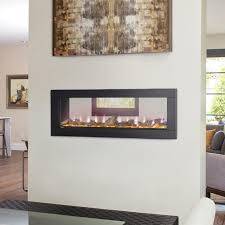 napoleon clearion 50 inch see through linear electric fireplace