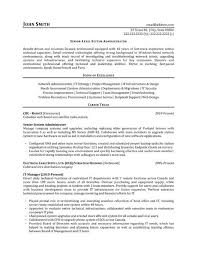 Systems Administrator Resume Network Example Template Picture