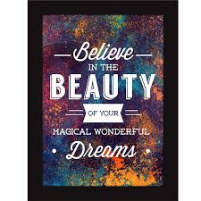 Fatmug Synthetic Encouraging Quotes Believe In Dreams Art Photo Frames Medium