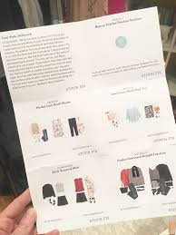 here is the style card they send with every fix to give you ideas on how to style the pieces i think all of the outfits they put together are super cute