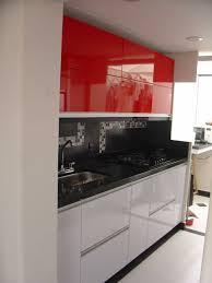 High Quality Cocinas Blancas Y Rojas Pequeñ Negras Gris Modelos Creative Home Cocina  Poliuretano Aluminio Blanca Roja Negra Ideas Imagenes