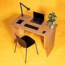 Cardboard Desk By Stykka Helps People Work From Home In Self Isolation