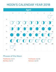 Blank Editable Calendar April 2018 Moon Blank Editable Calendar Download Free