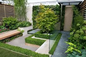 Cool Layout Ideas Small Garden For Minimalist Home Decorating