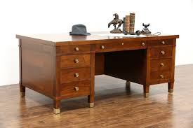 antique office table. executive antique walnut 6u0027 library or office desk bronze hardware table s
