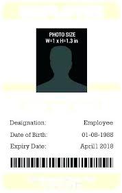 Work Id Template Work Id Template Free Corporate Id Card