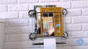 Chrome Toilet Paper Holder Magazine Rack Magazine Rack Toilet Paper Holder by Organize It All Bellacor 13