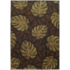 tropical design area rugs style haven tropical impressions grey brown indoor outdoor area rug home improvement