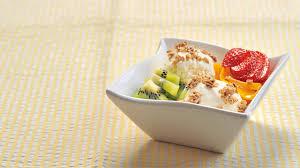 fruit salad with frozen yogurt. Perfect Frozen In Fruit Salad With Frozen Yogurt