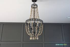 home office makeover with diy wood bead chandelier remodelaholic bloglovin