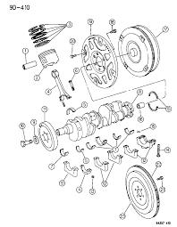 1994 dodge dakota crankshaft piston flywheel torque converter diagram 00000eto
