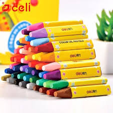 Buy <b>Deli</b> Wax Crayon Kids Oil Painting Stick Candy Color <b>Oil Pastel</b> ...