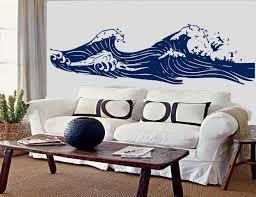 long ocean beach wave drawing hang ten inspired vinyl wall art decals removable by on hang ten wall art with long ocean beach wave drawing hang ten inspired vinyl wall art