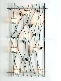 tealight metal wall art