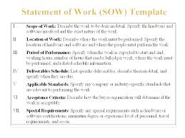 Simple Statement Of Work Template Software Sow Template Doc Statement Of Work Project Example