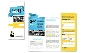 Pamphlet Template Free Charity Run Tri Fold Brochure Template Word Publisher