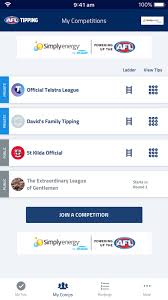 Afl Tipping Chart 2018 Printable Brand New Afl Tipping App Is Here