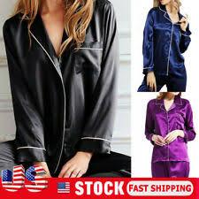 <b>Womens Satin Silk</b> Pajamas for sale | eBay
