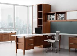 Retro Modern Wood Private Office Desk