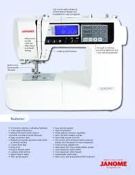 Janome 4120qdc Stitch Chart Janome 4120