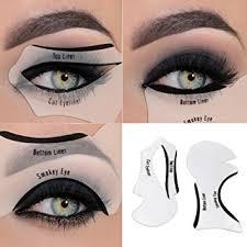 eyeliner stencil eyeshadow guide smokey cat quick eye makeup tool set