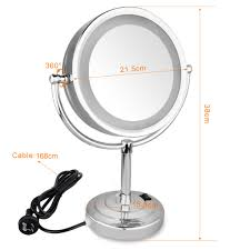 10x magnifying led makeup mirror with lights double side cosmetic