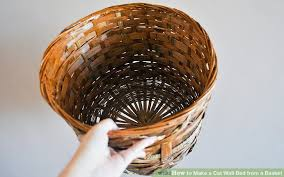 image titled make a cat wall bed from a basket step 2