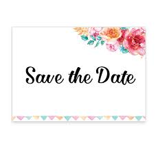 How To Make A Save The Date Card Boho Chic Save The Date Card