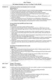 Business Transformation Manager Resume Samples Velvet Jobs