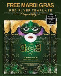 mardi gras free flyer psd template