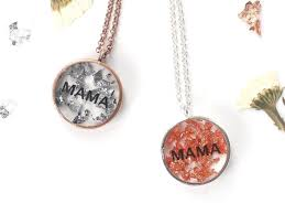 home necklaces resin mama name necklace