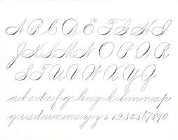 exle of spencerian script alphabet