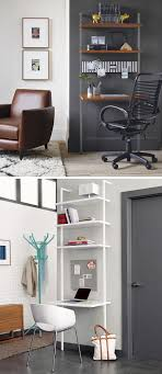 office wall desk. 16 Wall Desk Ideas That Are Great For Small Spaces // This Shelving System Mounts Office