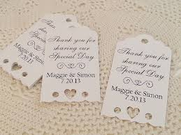 thank you tags for wedding favors eyelet heart wedding favor thank you tags personalized bridal