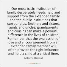 Family Support Quotes Mesmerizing Our Most Basic Institution Of Family Desperately Needs Help And