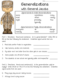 Generalizations Anchor Chart (includes FREEBIE!) | Free worksheets ...