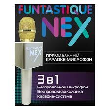 <b>Караоке</b>-микрофон <b>Funtastique NEX</b>, золотистый — купить в ...