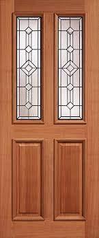 hardwood external glazed front and back